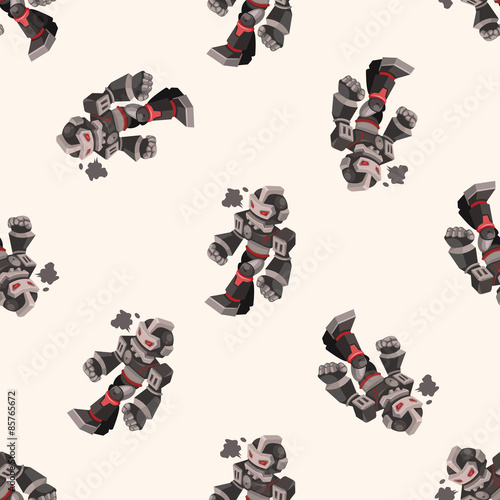 robot , cartoon seamless pattern background