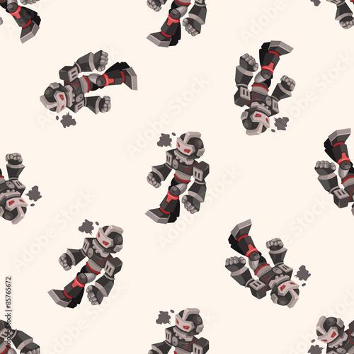 robot , cartoon seamless pattern background