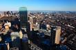 An aerial view of Boston city center, Massachusetts