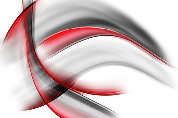 Red Black Abstract Waves