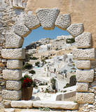 Fototapeta Traditional architecture of Oia village on Santorini island, Gre