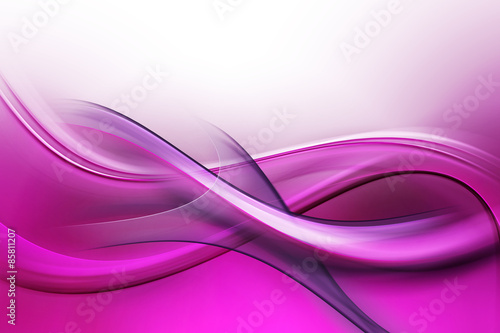 Abstract Fractal Purple Pink Waves Background