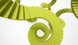Green spiral stairs concept rendered