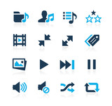 Media Player Icons -- Azure Series