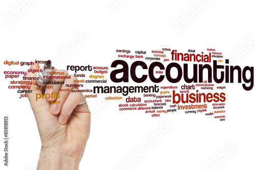 Fototapeta Accounting word cloud