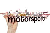 Fototapety Motorsport word cloud