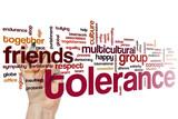 Tolerance word cloud poster