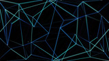 Fototapety Neon Polygon Background