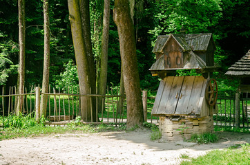 old wooden water well © nadyatess