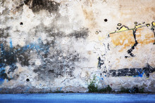 Urban Grunge - Colorful Wall Grafitti Background Texture.