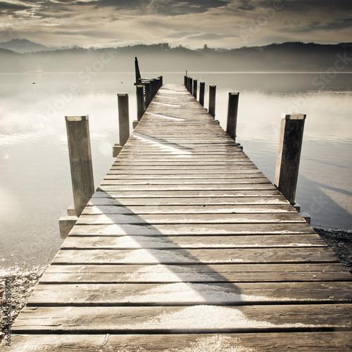 Fotobehang Pier wooden jetty (242)