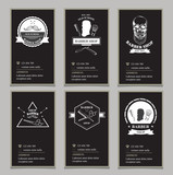 Visiting card design barbershop.
