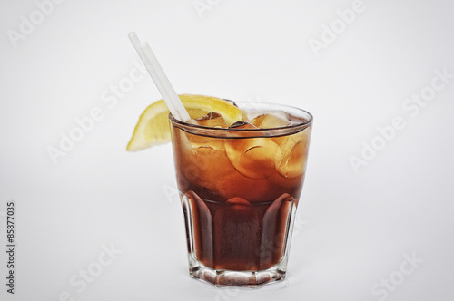 cocktail black russian isolated on the white background Poster