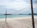 Fototapeta Beach volley ball court in the island