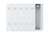 Grey Metal Lockers - 85891673