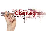 Disintegration word cloud poster