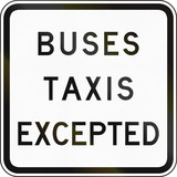 Buses And Taxis Excepted in Australia poster