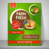 Template, banner or flyer for Farm Fresh.