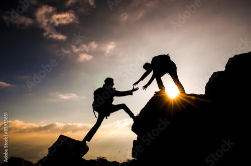 dağcı tırmanış ve yardımlaşması Poster