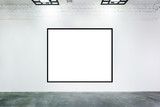 Blank frames on the wall at museum