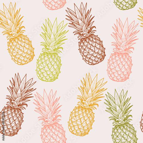 Tapeta Seamless pineapple