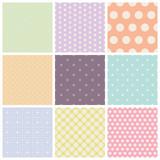 Fototapety set of seamless dots patterns