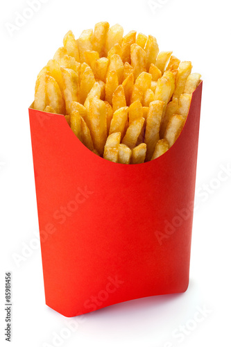 Poster French fries.