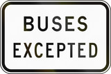 Buses Excepted in Australia poster