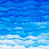 Vector watercolor blue wave background. Watercolor layers of different - 85988853