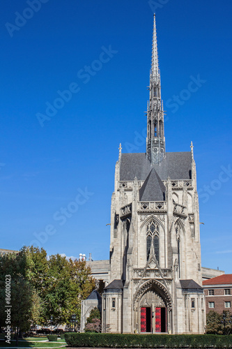 Poster Heinz Chapel - Gothic Architecture of Pittsburghs Historic and Grandiose Heinz C