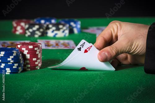 Plakat Double ace in poker