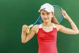 Fototapety Tennis - beautiful young girl tennis player