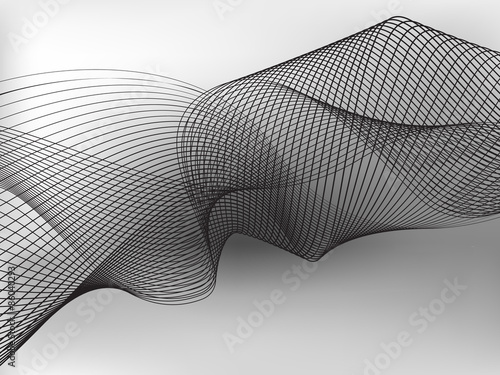 abstract flowing wave design layout vector background