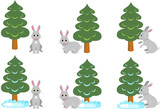 Bunny under the Christmas tree, winter, hare, rabbit, little coward poster