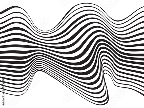 optical art background wave design black and white © am54