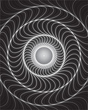 Fototapeta Swirling background. Abstract shapes forming vortex phenomenon