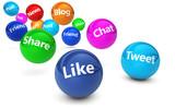 sociální média webové cedule