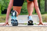 Fototapeta Läuferin kurz vorm Sprint