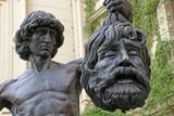 Skulptur David mit dem Haupte Goliaths im Schlossgarten Schwerin poster