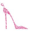 Chic Pink Damask Shoe