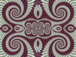 Постер, плакат: Symmetrical Textured Background with Spirals Gray and vinous pa
