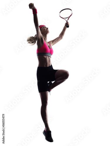 Plakát woman tennis player silhouette