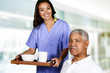 Detaily fotografie  Health Care Worker and Elderly Man