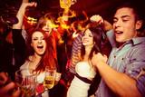 People in night club. Dancing, drinking and having fun  - Fine Art prints