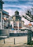 Jedna z ładnych ulic w Sopocie (Polska) w pobliżu zatoki, bałtycka