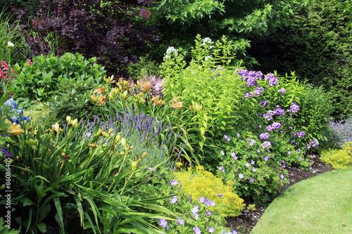 Fotobehang Tuin Garden flower bed
