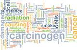 Carcinogen background concept poster