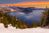 Beautiful Panorama of Crater Lake - 86094461