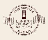 Fototapety stamp mail