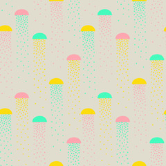 vector pattern of colorful abstract shapes